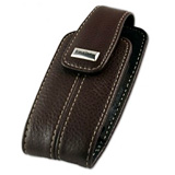 BLACKBERRY BROWN LEATHER CASE WITH MAGNETIC FLAP